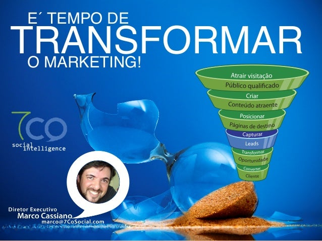 E´ TEMPO DETRANSFORMAR O MARKETING!