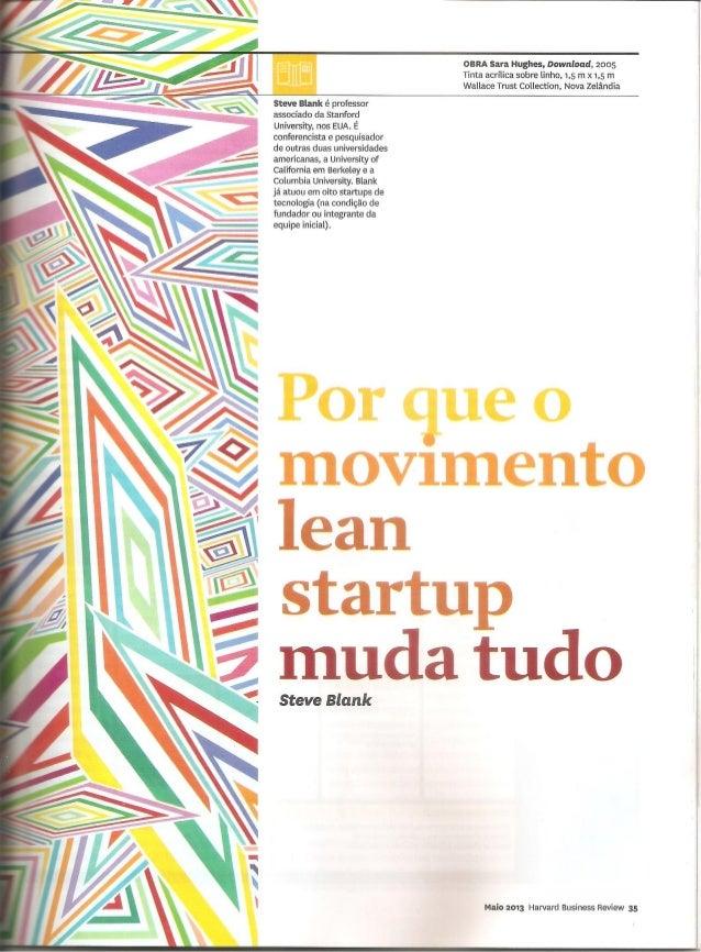 Por que o movimento lean startup muda tudo - Steve Blank na HBR