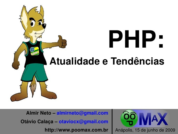 PHP: Atualidade e Tendências