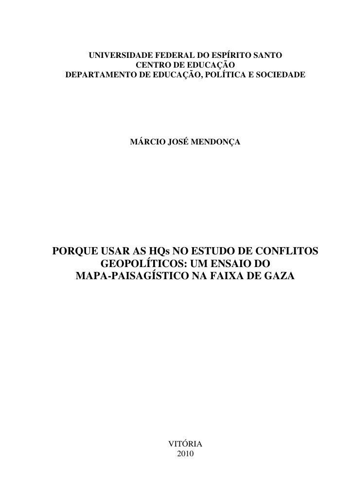 UNIVERSIDADE FEDERAL DO ESPÍRITO SANTO               CENTRO DE EDUCAÇÃO  DEPARTAMENTO DE EDUCAÇÃO, POLÍTICA E SOCIEDADE   ...