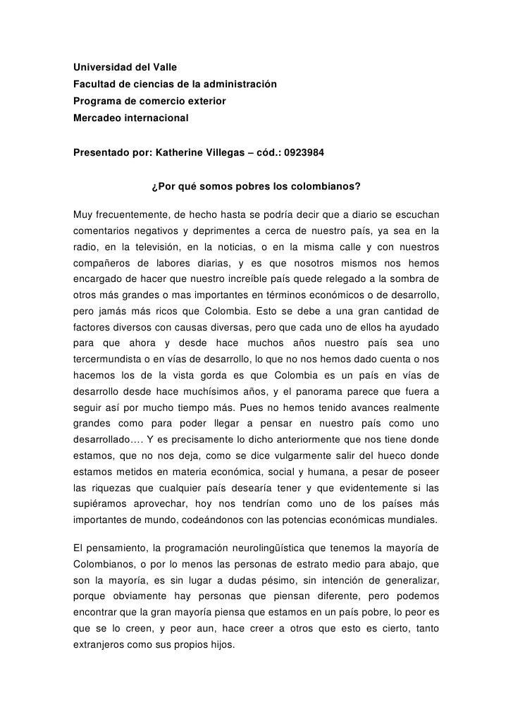 Universidad del ValleFacultad de ciencias de la administraciónPrograma de comercio exteriorMercadeo internacionalPresentad...