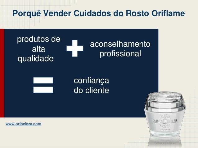 produtos dealtaqualidadeaconselhamentoprofissionalconfiançado clientePorquê Vender Cuidados do Rosto OriflameFonte: orifla...