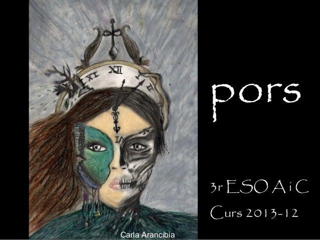 pors                  3r ESO A i C                  Curs 2013-12Carla Arancibia