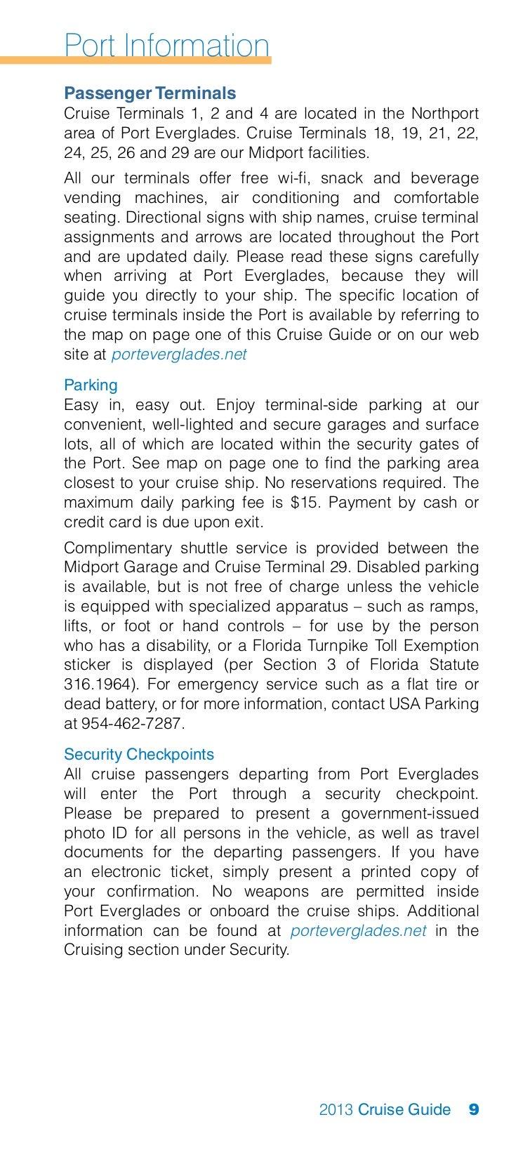 Port Everglades 2013 Cruise Guide
