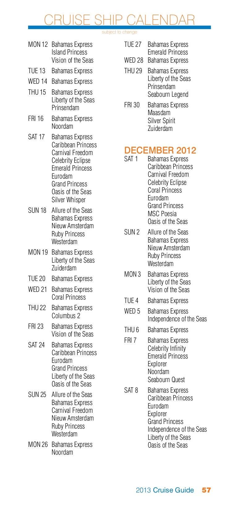 Port everglades-2013-cruise-guide