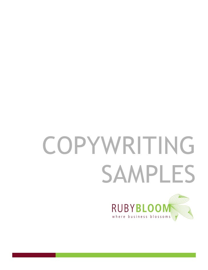 COPYWRITING     SAMPLES