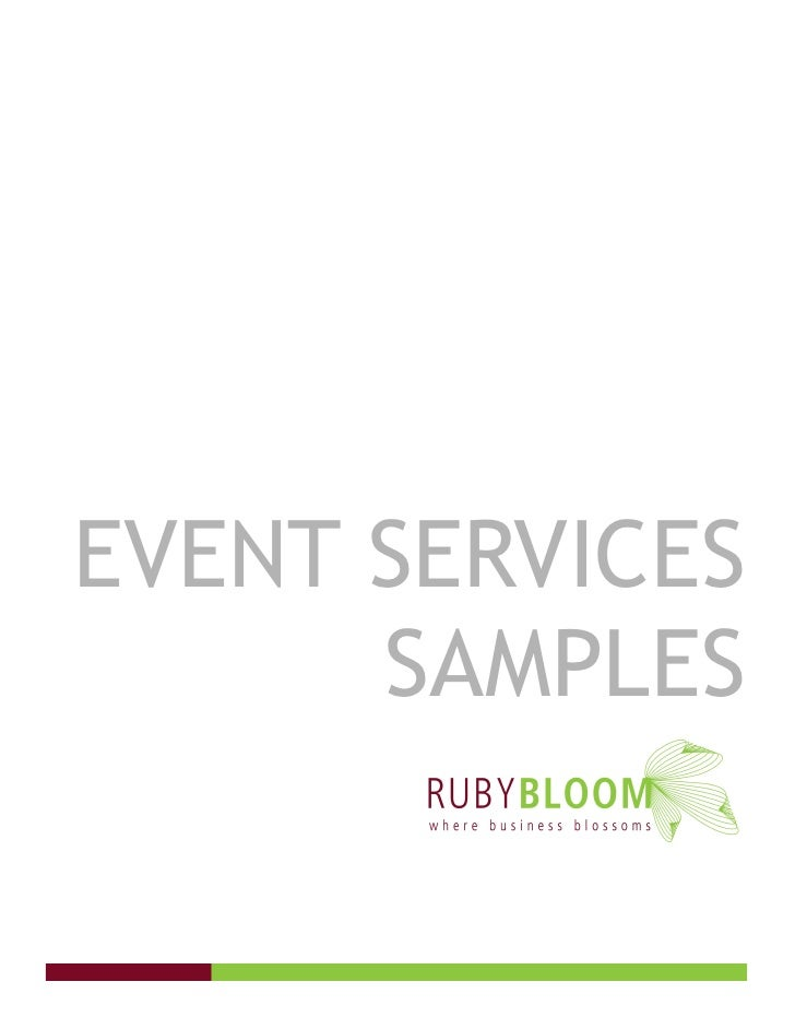 EVENT SERVICES       SAMPLES