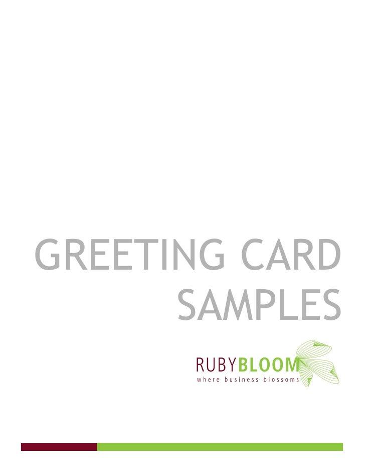 GREETING CARD       SAMPLES
