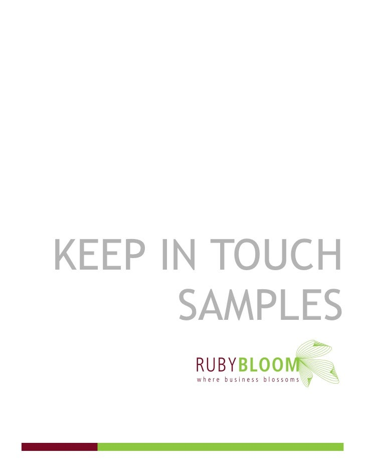 KEEP IN TOUCH       SAMPLES