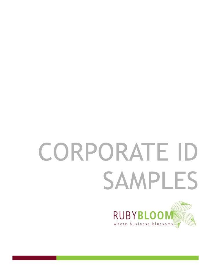 CORPORATE ID     SAMPLES