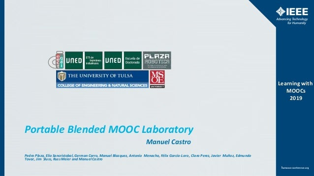 www.ieee.orglwmoocs-conference.org Learning with MOOCs 2019 lwmoocs-conference.org Learning with MOOCs 2019 Portable Blend...
