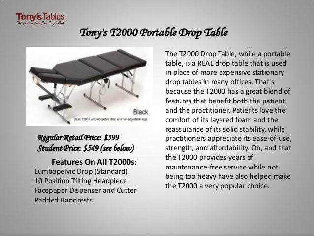 Portable Chiropractic Tables For Sale