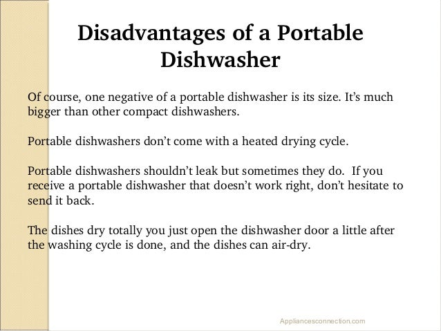 8 of a portable dishwasher