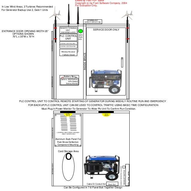 how to build a portable generator enclosure
