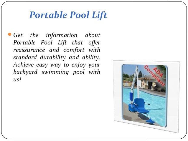 Portable Pool Lift
