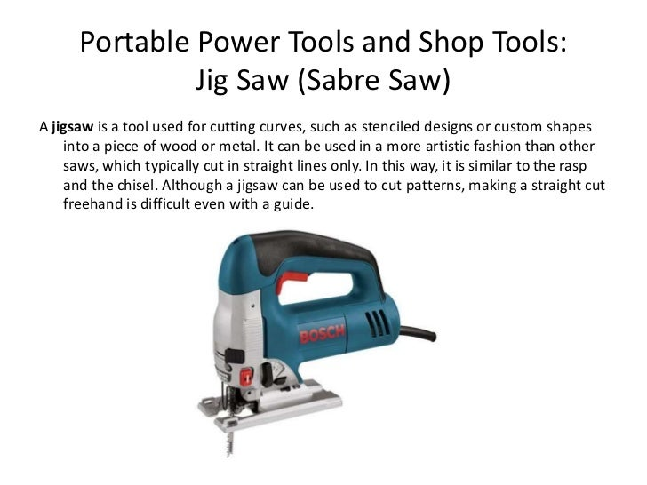 Portable Power Tools And Shop Tools