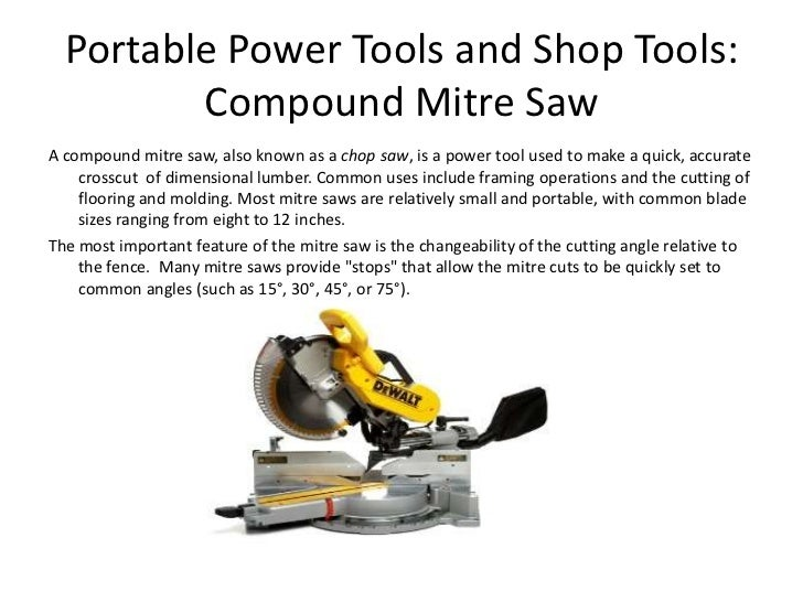 What Are The Different Types Of Power Tools: Portable Power Tools And Shop Tools Revised