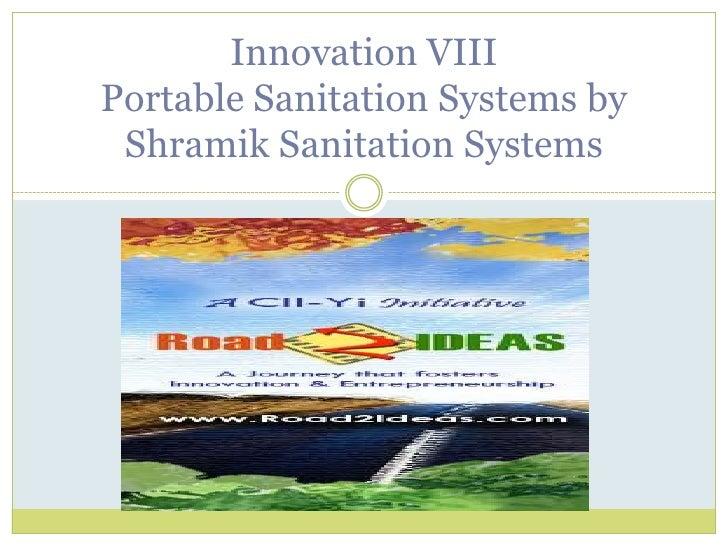 Portable sanitation system shramik team scamper