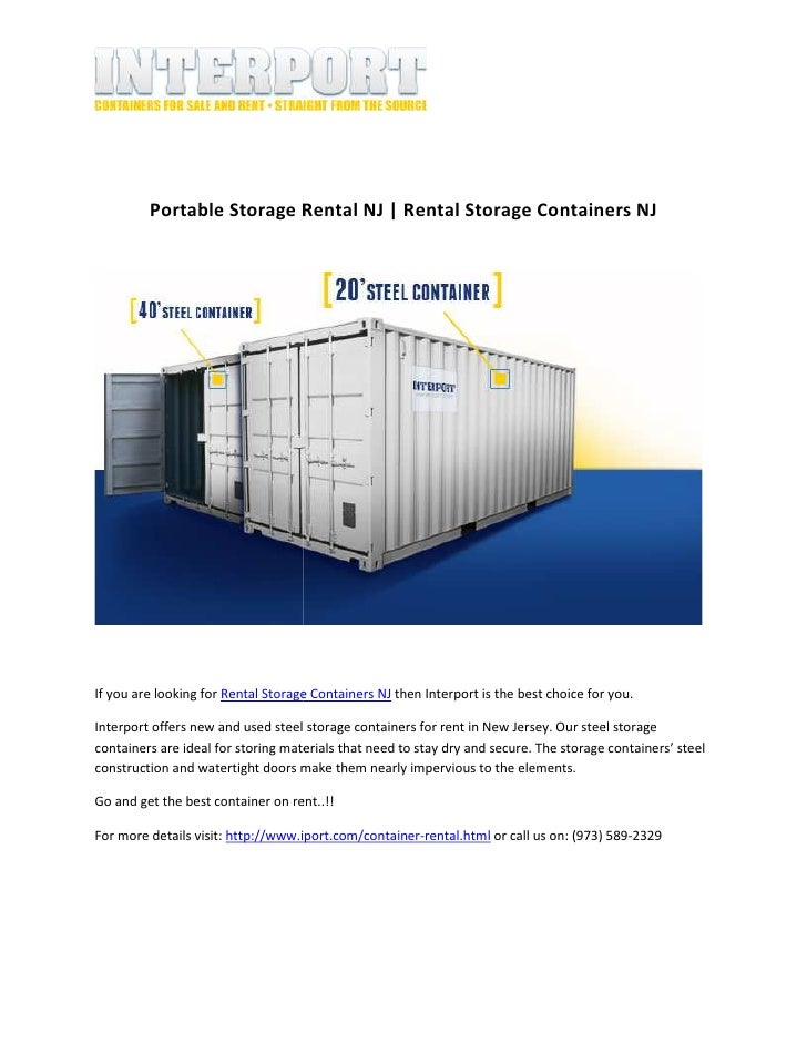Portable storage rental nj rental storage containers nj