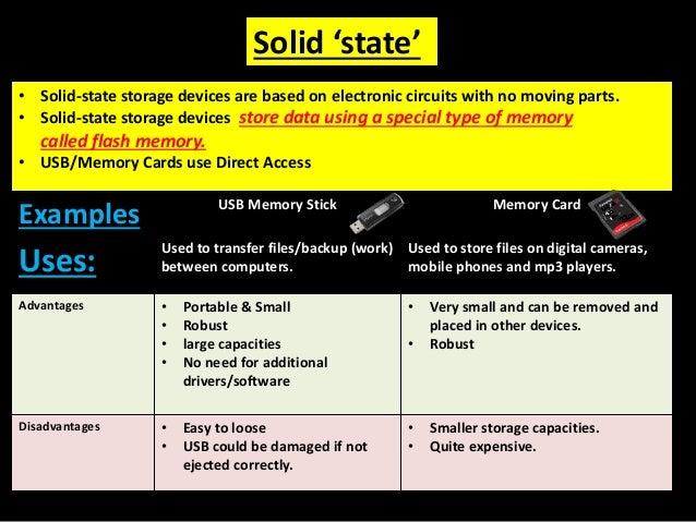 Igcse ict solid-state storage devices   igcse ict.