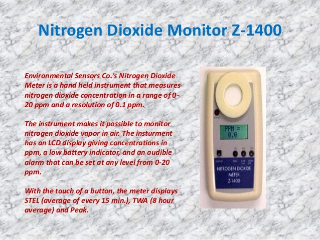 an experiment on the presence of nitrogen dioxide in the environment Nitrogen oxides (nitric oxide, nitrogen dioxide, etc) cas #10102-43-9 (nitric oxide) cas #10102-44-0 (nitrogen dioxide) division of.