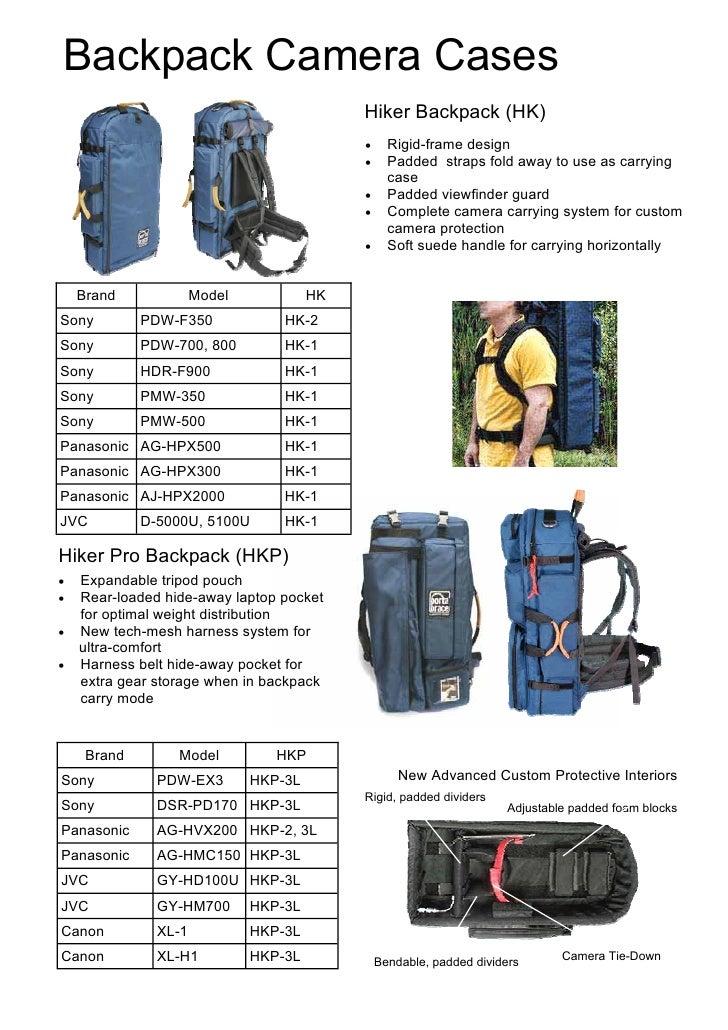 77bd82009f8d Portabrace backpack camera cases