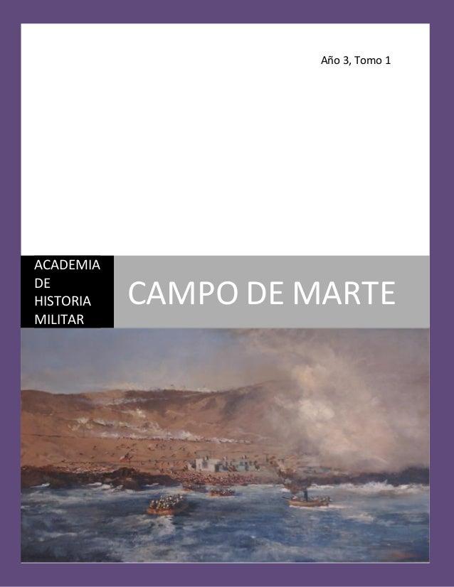 Año 3, Tomo 1 ACADEMIA DE HISTORIA MILITAR CAMPO DE MARTE