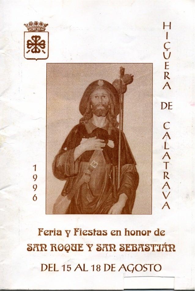 LIBRO DE FERIA Y FIESTAS HIGUERA DE CALATRAVA 1996