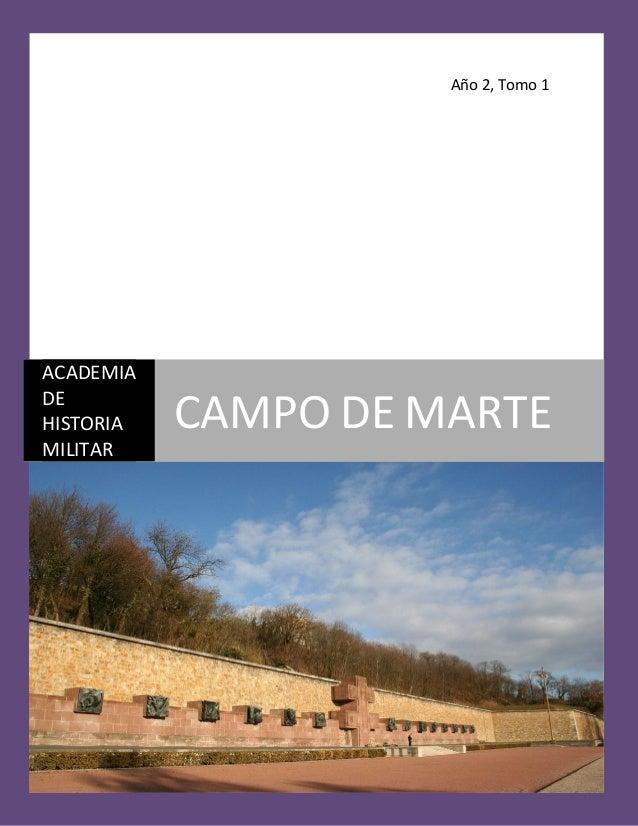 Año 2, Tomo 1 ACADEMIA DE HISTORIA MILITAR CAMPO DE MARTE