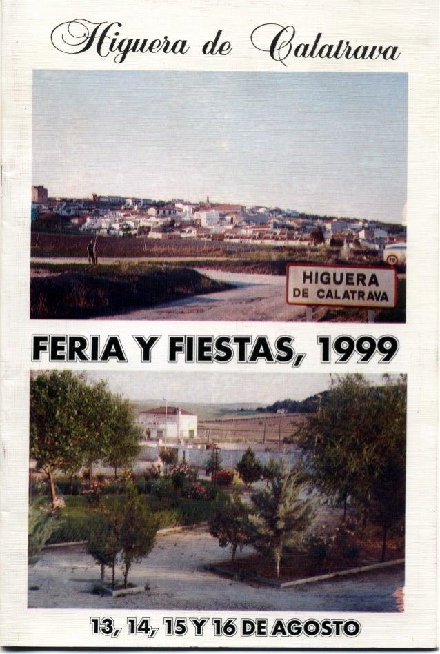 LIBRO DE FERIA Y FIESTAS HIGUERA DE CALATRAVA 1999