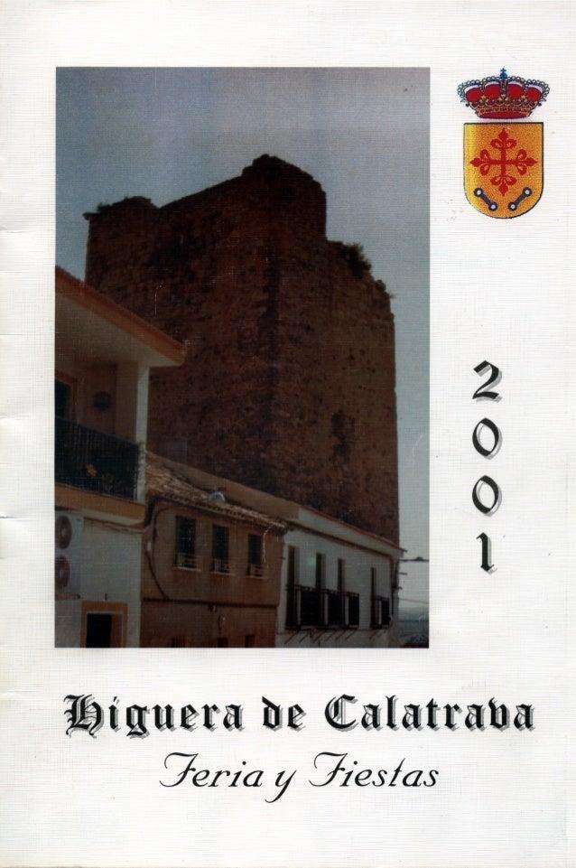 LIBRO DE FERIA Y FIESTAS HIGUERA DE CALATRAVA 2001