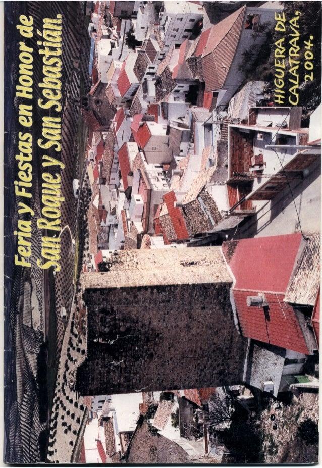 LIBRO DE FERIA Y FIESTAS HIGUERA DE CALATRAVA 2004