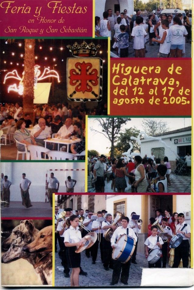 LIBRO DE FERIA Y FIESTAS HIGUERA DE CALATRAVA 2005