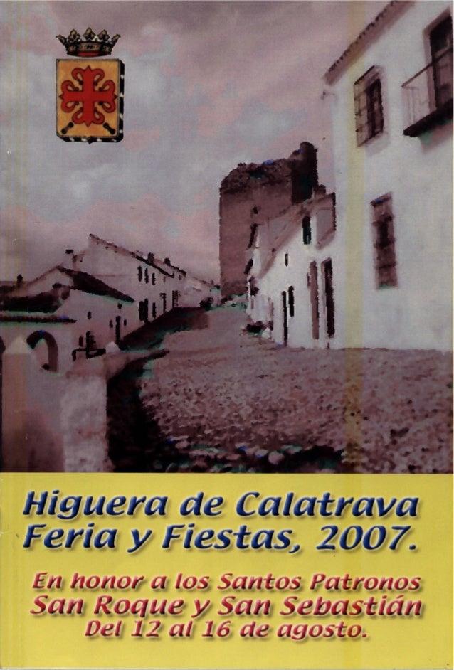 LIBRO DE FERIA Y FIESTAS HIGUERA DE CALATRAVA 2007