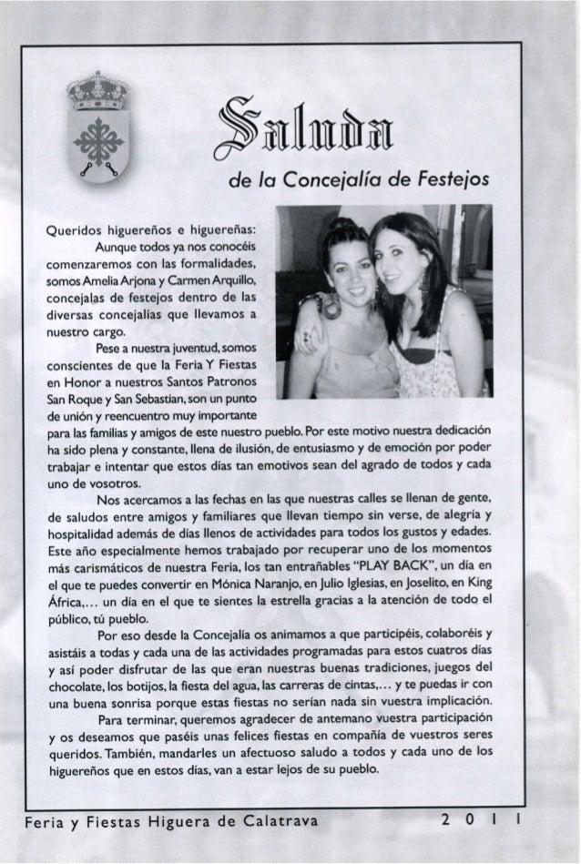 LIBRO DE FERIA Y FIESTAS DE HIGUERA DE CALATRAVA 2011
