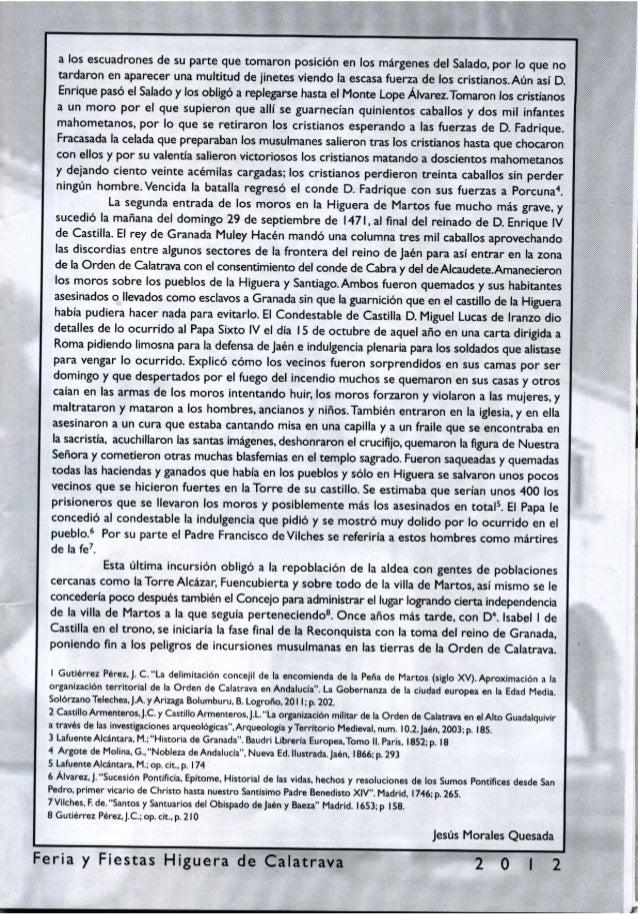 LIBRO DE FERIA Y FIESTAS DE HIGUERA DE CALATRAVA 2012