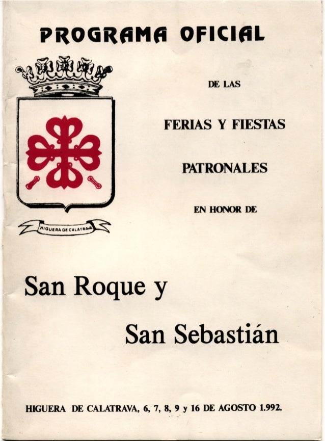 LIBRO FERIA HIGUERA DE CALATRAVA 1992