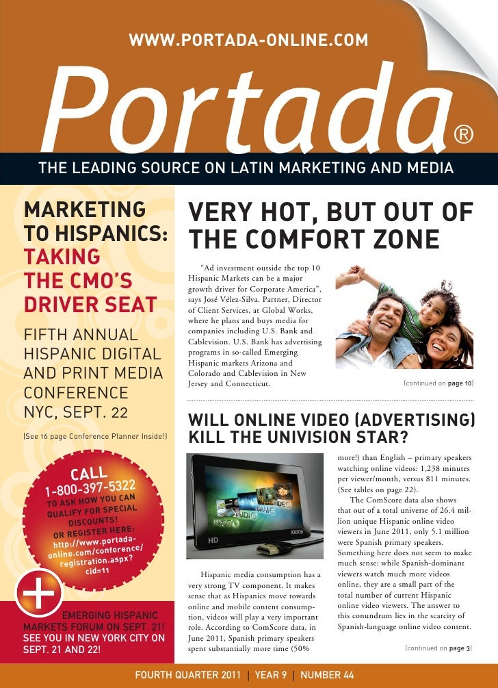WWW.PORTADA-ONLINE.COM    THE LEADING SOURCE ON LATIN MARKETING AND MEDIAMARKETING                                  VERY H...