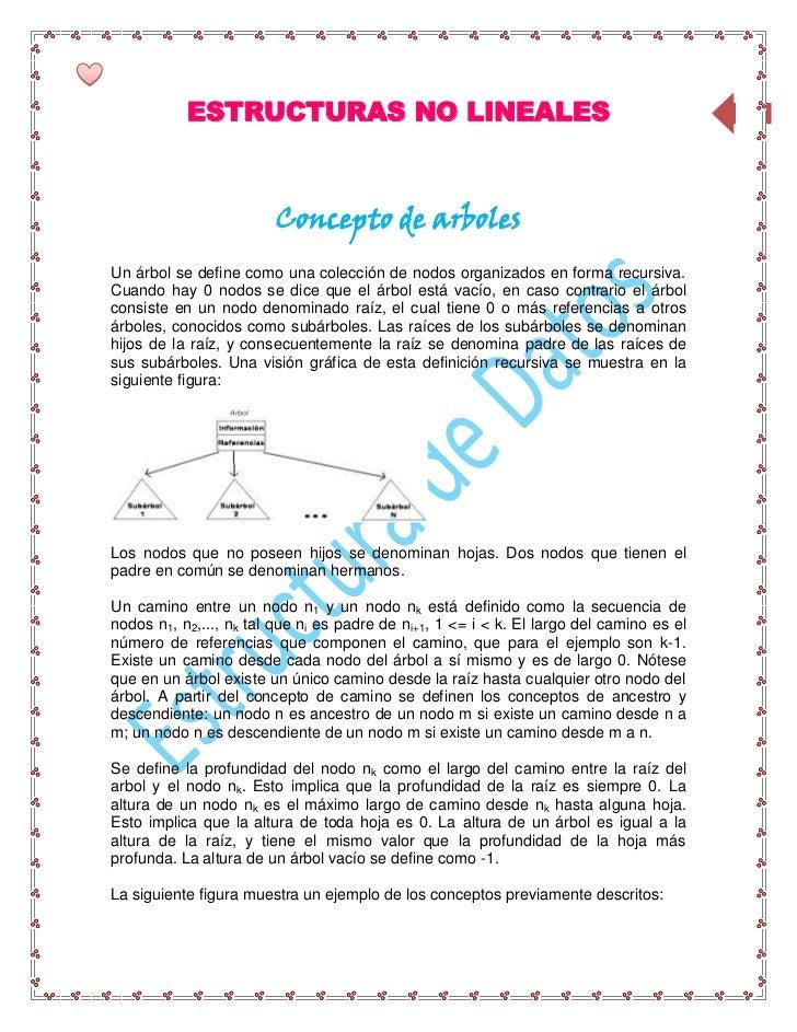 ESTRUCTURAS NO LINEALES                                                        44Arboles                        Concepto d...