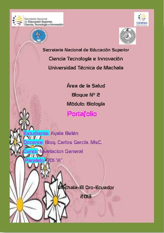 Secretaria Nacional de Educación Superior Ciencia Tecnología e Innovación Universidad Técnica de Machala Área de la Salud ...