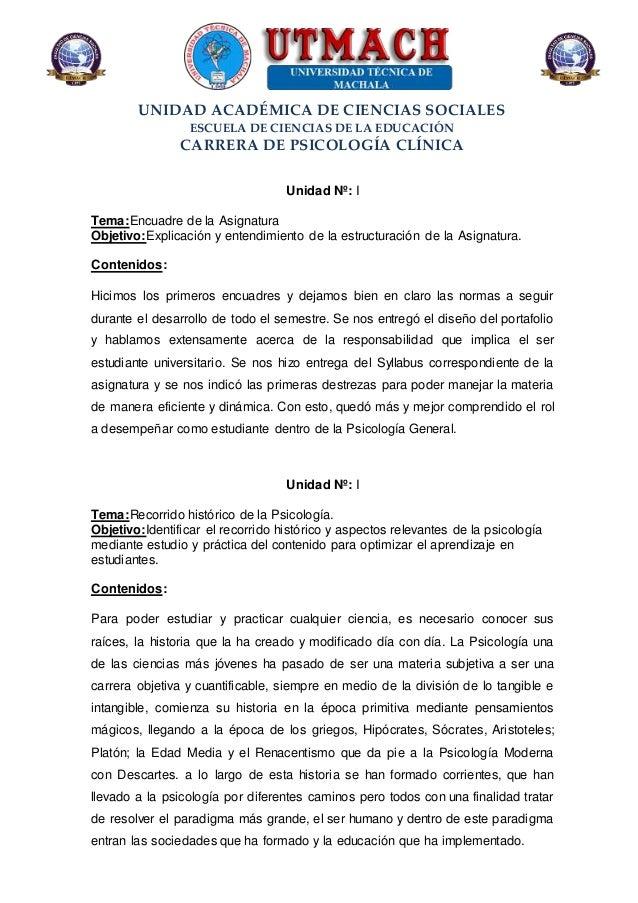 Portafolio de Psicología General I