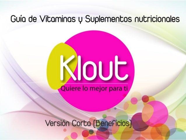 Guia de Vitaminas y Suplementos - Klout Colombia