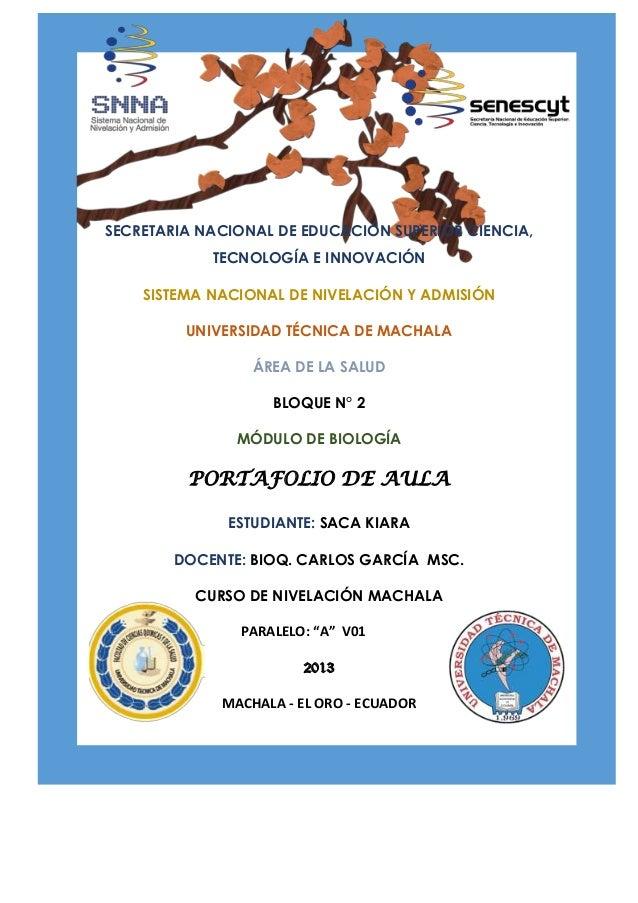 SECRETARIA NACIONAL DE EDUCACIÓN SUPERIOR CIENCIA, TECNOLOGÍA E INNOVACIÓN SISTEMA NACIONAL DE NIVELACIÓN Y ADMISIÓN UNIVE...