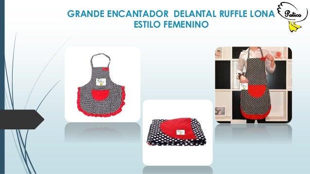 GRANDE ENCANTADOR DELANTAL RUFFLE LONA ESTILO FEMENINO Patico