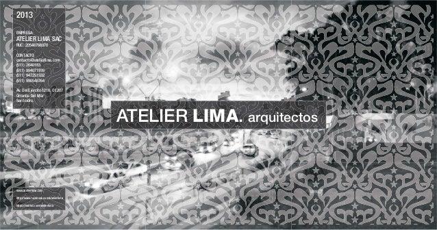 PORTAFOLIO ATELIER LIMA 2013