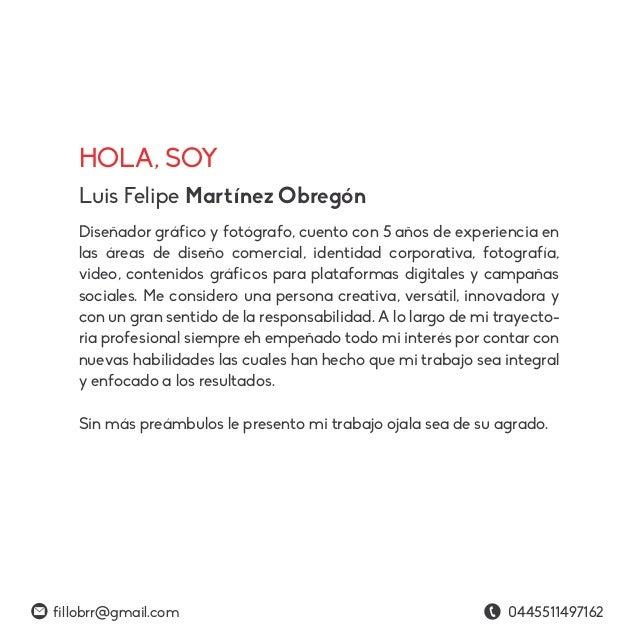 Portafolio 2016 Felipe Martínez Obregón Slide 2