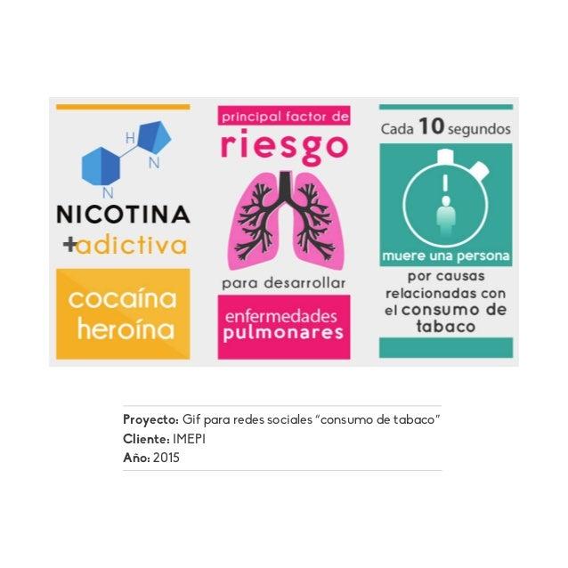 """Proyecto: Gif para redes sociales """"consumo de tabaco"""" Cliente: IMEPI Año: 2015"""