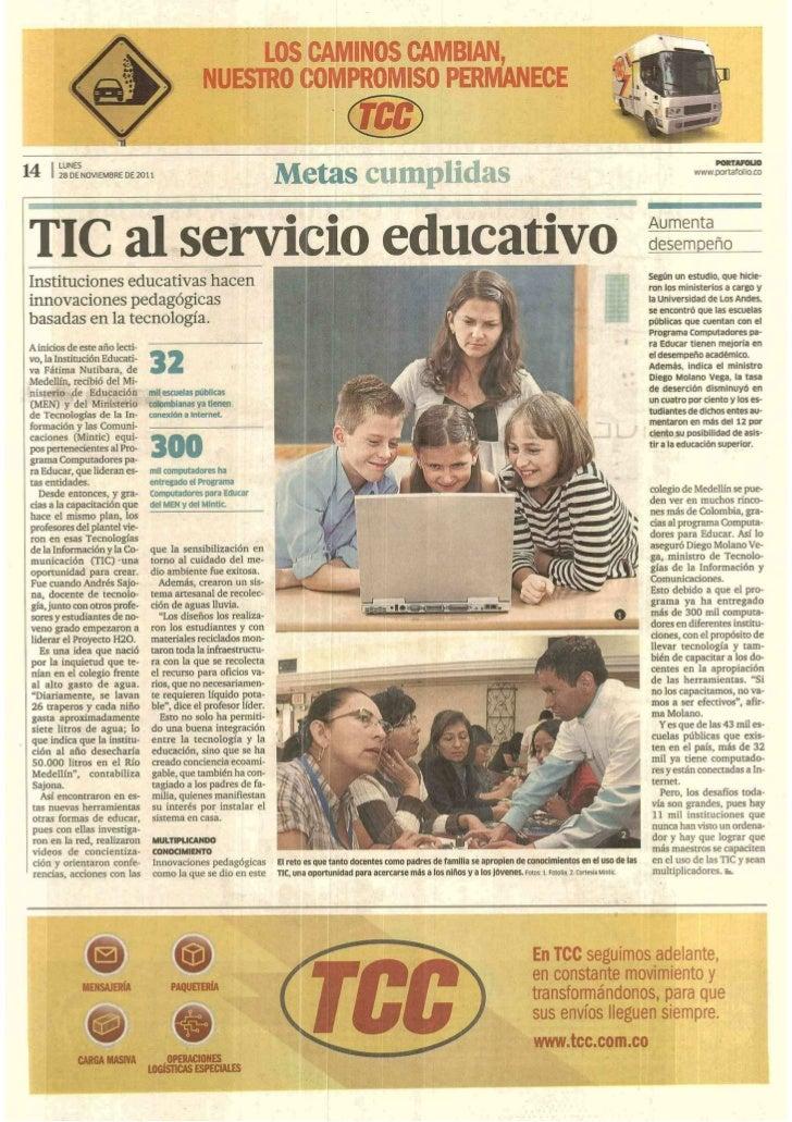 TIC al servicio educativo. Portafolio