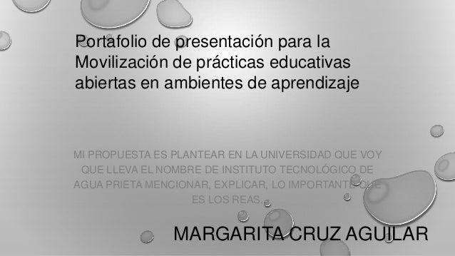MARGARITA CRUZ AGUILAR MI PROPUESTA ES PLANTEAR EN LA UNIVERSIDAD QUE VOY QUE LLEVA EL NOMBRE DE INSTITUTO TECNOLÓGICO DE ...