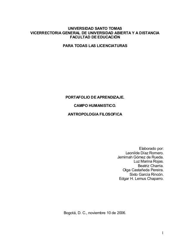 UNIVERSIDAD SANTO TOMASVICERRECTORIA GENERAL DE UNIVERSIDAD ABIERTA Y A DISTANCIA                 FACULTAD DE EDUCACIÓN   ...